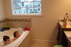 "Ever hear of ""dinner and a movie""? This is ""bath and a movie."""