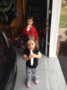 New tradition: ice pop after dinner.